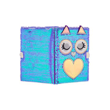 Mirada Owl Flip Sequin Notebook/Diary