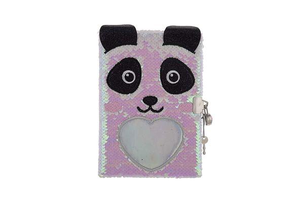 Mirada Panda Flip Sequin Notebook/Diary