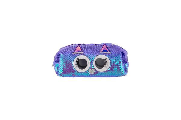 Mirada Owl Flip Sequin Pencil Case For Kids, Purple
