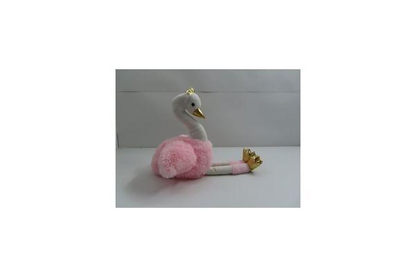 Swan Plush - White & Pink - 40Cm