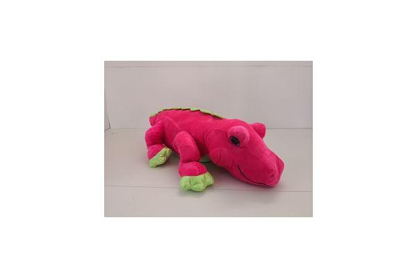 Pink Stuffed Alligator - 76Cm