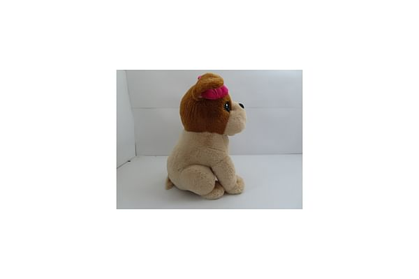 Sitting Dog With Bow - Brown - 60Cm