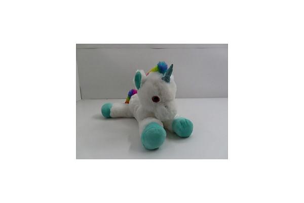 Lying Unicorn Plush - White - 53Cm