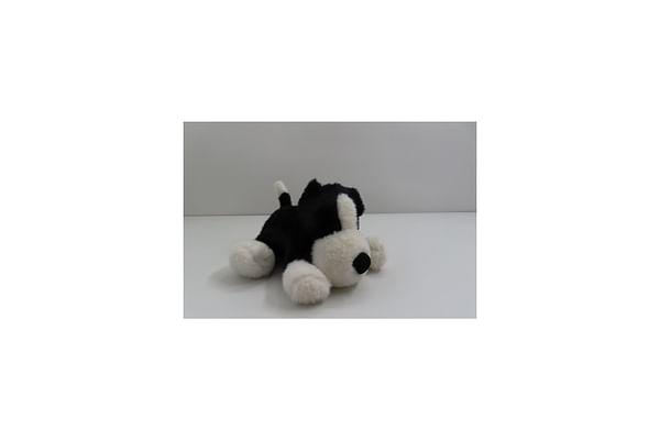 Soft Lying Dog - Black - 33Cm