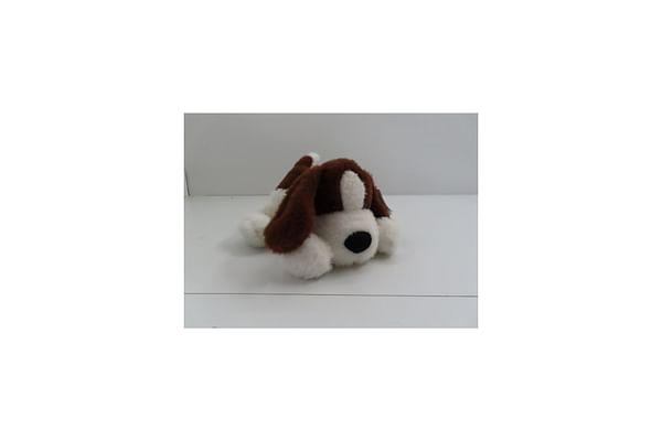 Soft Lying Dog - Dark Brown - 33Cm