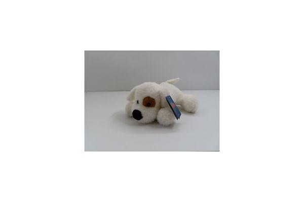 Soft Lying Dog - White - 33Cm