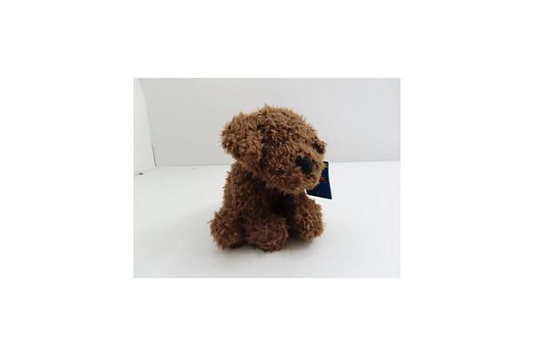 Sitting Dog - Dark Brown - 25Cm