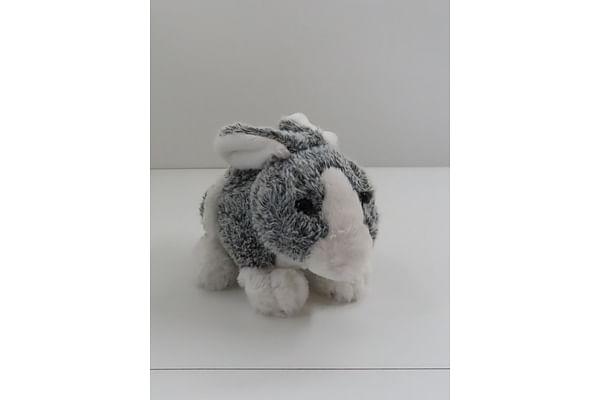 Soft Furry Bunny - Grey - 25Cm