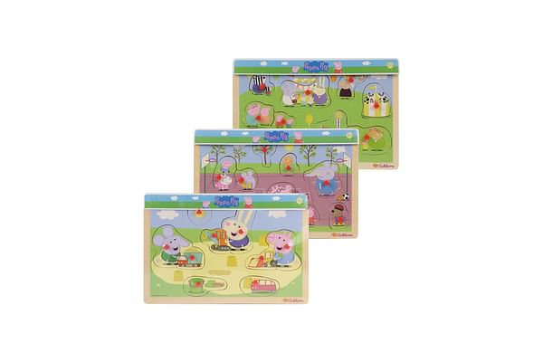 Peppa Pig Pin Puzzle Asst
