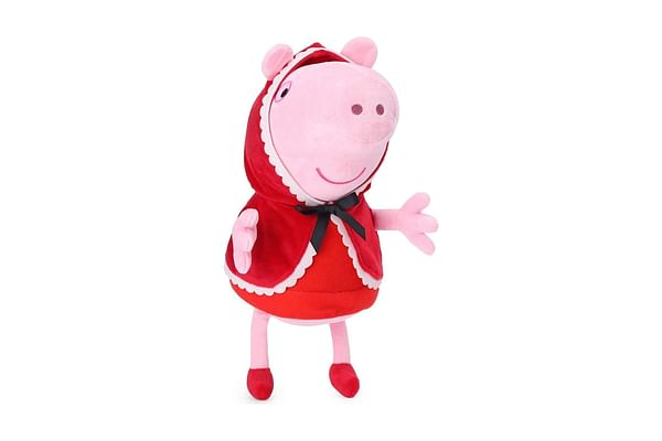 Peppa Pig In Little Red Riding Hood Costume Plush 30 Cm
