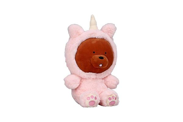 We Bare Bear Grizzly Bear With Unicorn Onesie Plush 25 Cm