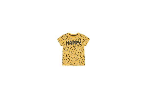 Boys Half Sleeves T-Shirt Textured Print - Yellow