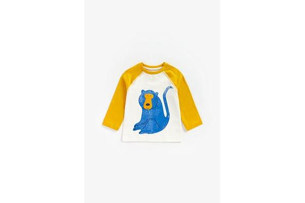Boys Full Sleeves T-Shirt Monkey Print - Yellow
