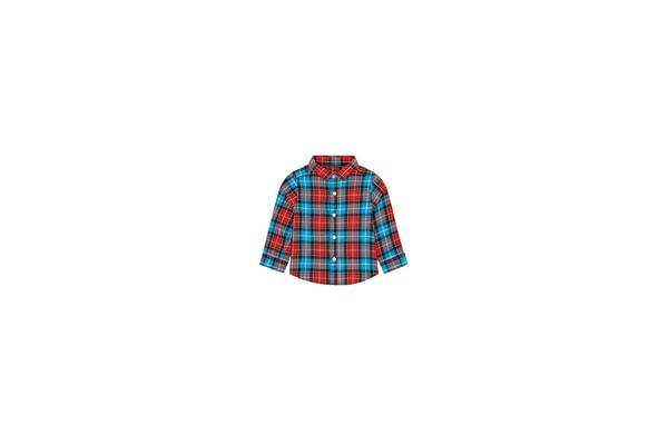 Boys Full Sleeves Check Shirt - Blue Red