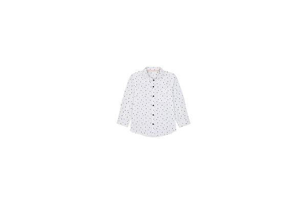 Boys Full Sleeves Shirt Printed - White
