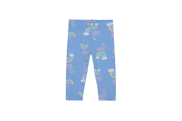 Girls Leggings Printed - Blue