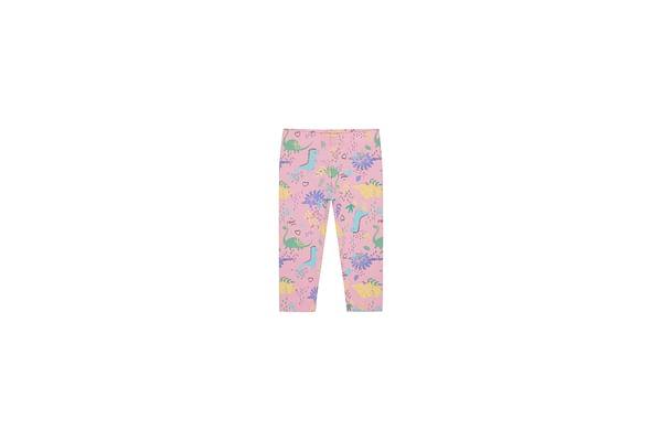 Girls Leggings Dino Print - Pink