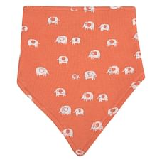 Unisex Stripe and elephant print Bibs - Pack of 2 - Multicolor