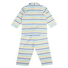 Unisex Full sleeves Striped Pyjamas - White
