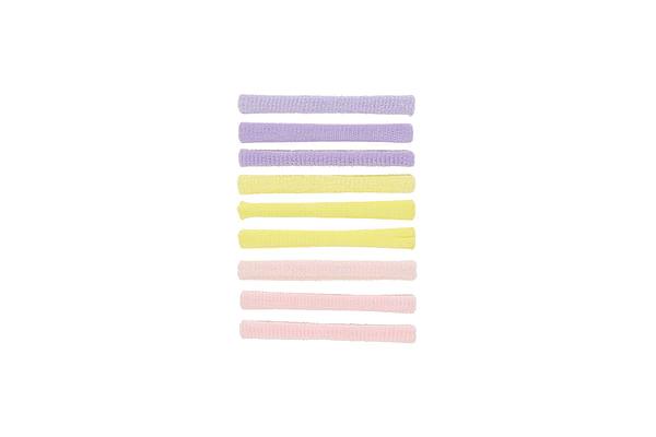 Girls Hair Ties - Pack Of 9 - Multicolor