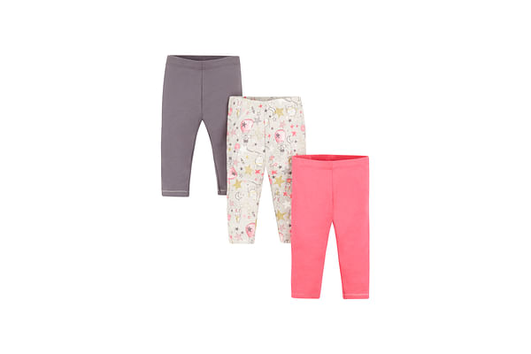 Girls Leggings Star Print - Pack Of 3 - Multicolor