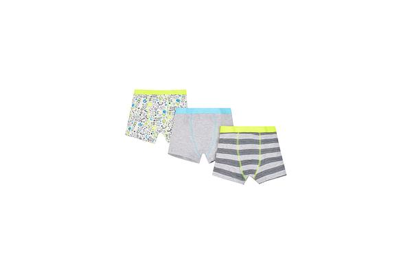 Boys Trunks Rocket Print - Pack Of 3 - White
