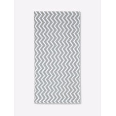 Mila Baby - Grey Chevron - Fitted Cot Sheet Small