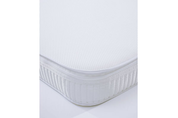 Mothercare Cot Bed Safeseal Foam Mattress With Spacetec And Coolmax Freshfx White