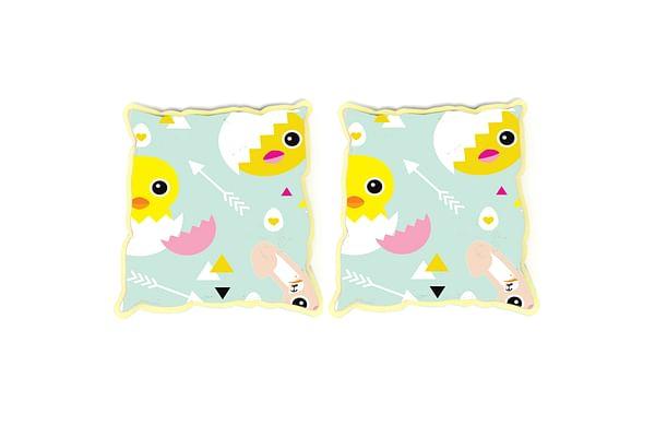 Fancy Fluff Set Of 2 Rai Pillow Covers - Chick