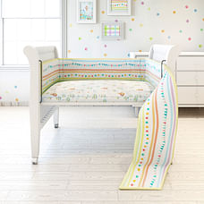 Fancy Fluff 7 Piece Organic Baby Cot Bedding Set - Carnival