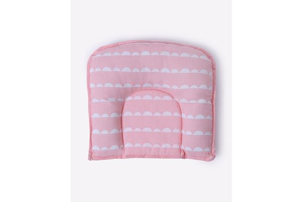 Mila Baby Pink Wave Baby Pillow