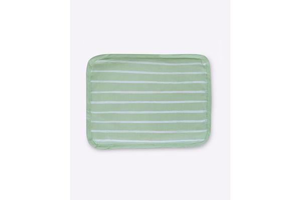 Mila Baby Green Stripe Rai Pillow