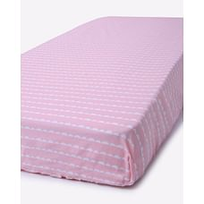 Mila Baby Pink Wave Large Fitted Sheet (Cot Bed)