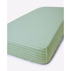 Mila Baby Green Stripes Large Fitted Sheet (Cot Bed)
