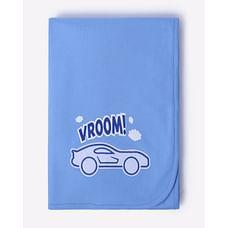 Mila Baby Organic Knit Receiving Blanket Blue Cars
