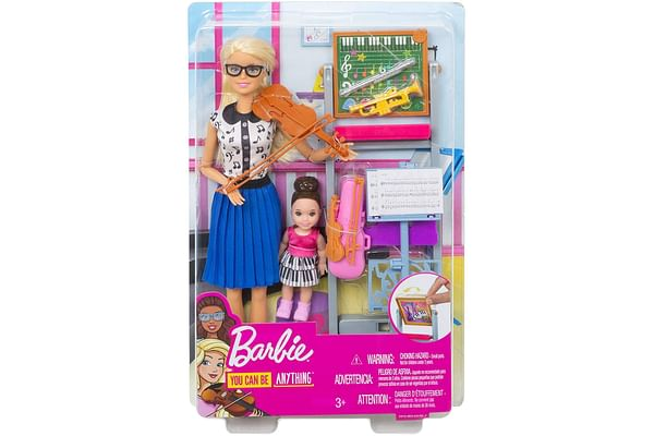 Barbie Music Teacher Doll Playset with Blackboard