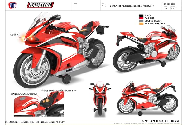 Teamsterz Light and sound RED MOTORBIKE