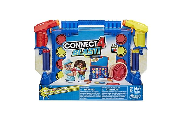 Hasbro Connect 4 Blast! Game With Nerf Blasters