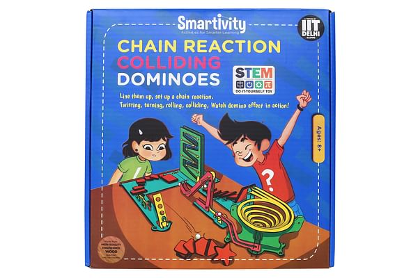 Smartivity Chain Reaction Colliding Dominoes, Educational And Construction Activity Kit
