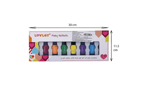 Luvley Funky Nail Paint Set, 8 Colours