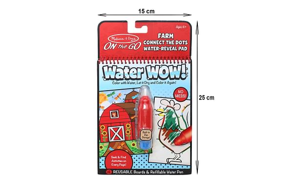 Melissa & Doug On The Go Water Wow! Connect The Dots Farm Activity Pad