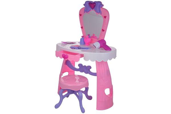 Comdaq Dressing Table & Vanity Set - 23 Pieces (Pink)