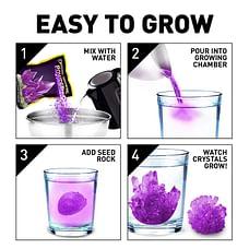 National Geographic Purple Crystal Growing Lab - Diy Crystal Creation