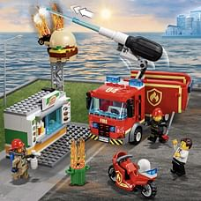 Lego City Burger Bar Fire Rescue Building Blocks For Kids (327 Pcs)60214