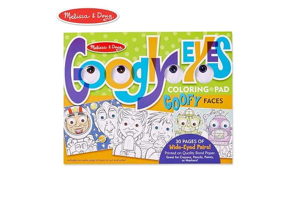 Melissa & Doug  Wacky Faces - Googly Eyes Colouring Pad