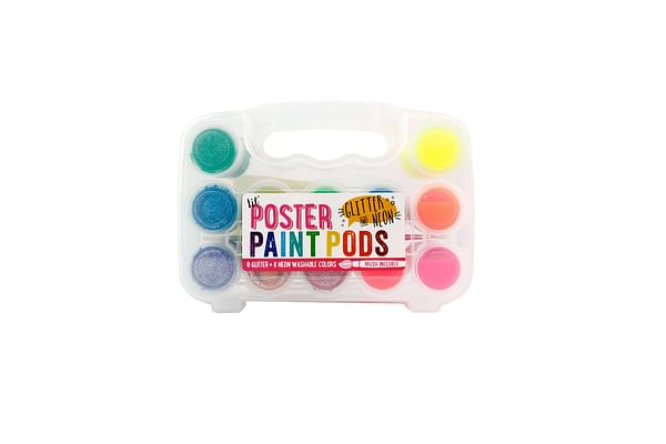 Ooly Lil' Paint Pods Poster Paint, Neon & Glitter, Set Of 12 (126-003)