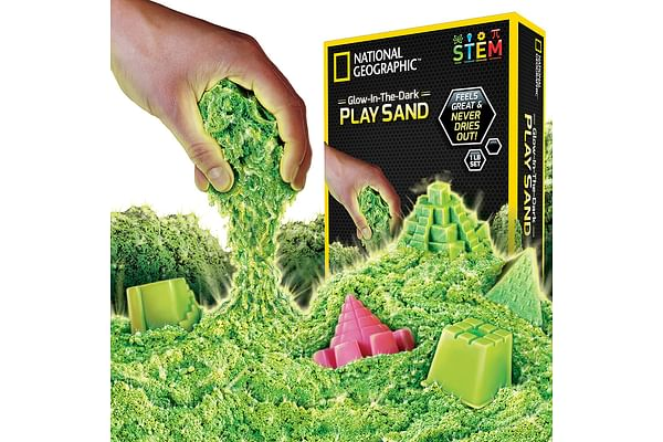 National Geographic 2Lb Sensory Play Sand, Sparkling Pink, 2 Pound