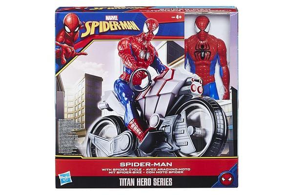 Marvel Spider-Man Titan Hero Series Spider-Man Figure With Spider Cycle