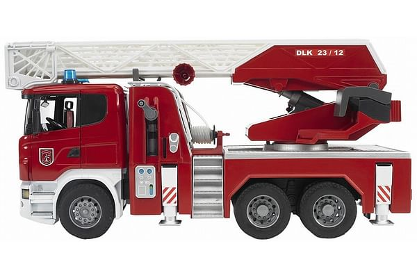 Bruder Scania R-Series Fire Ladder Wagon With Water Pump, Light And Sound [Toy]