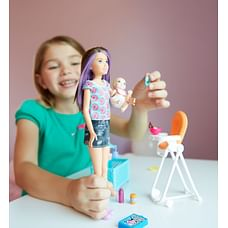 Barbie Sisters Babysitter Feeding Playset